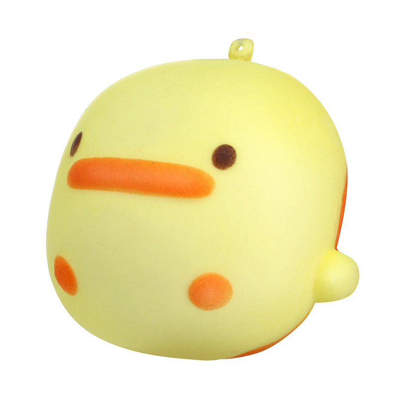 Exquisite Fun Crazy Yellow Duck Scented Squishy Charm Slow Rising 7cm Simulation Kid Toy Gifts Squash Anti-stress F1