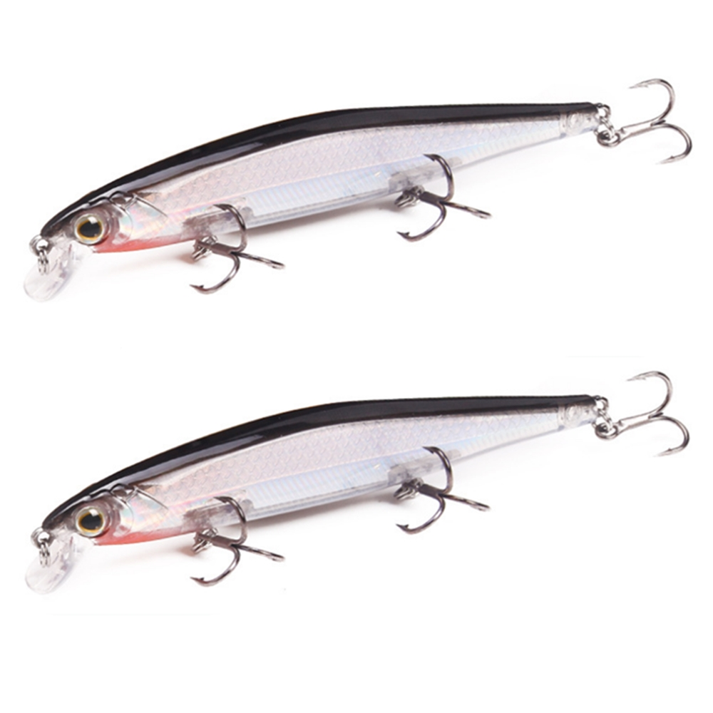 1Pcs 11cm 13g Fishing Lure Minnow Artificial Hard Bait with 3 Fishing Hooks Lure 3D Eyes Fishing Wobbler carp Fishing Tackle