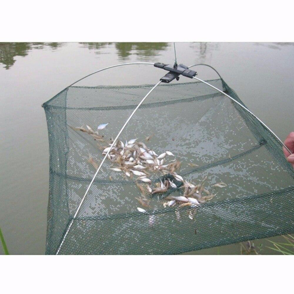 2017 New Foldable Cage Crab Fish Crawdad Shrimp Minnow Fishing Bait Trap Cast Dip Net Useful