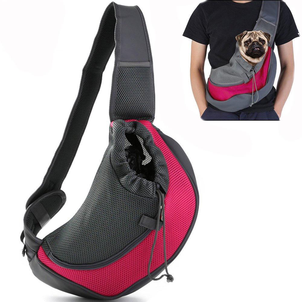 Bolso de transporte de mascotas gato cachorro al aire libre bolsas pequeñas Animal perro arnés malla de viaje bolsa de hombro mochila Dropshipping. exclusivo.
