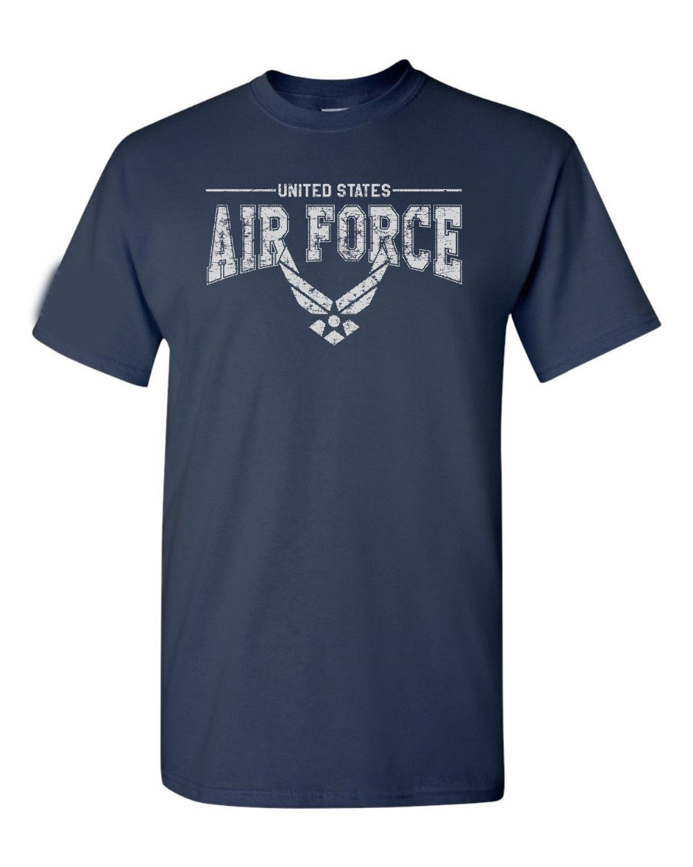 Usa Us Air Force Logo Us Flag Sleeve American Military <font><b>Usaf</b></font> Men'S Tee <font><b>Shirt</b></font> newest 2019 Fashion Summer Short Sleeves Cotton Tee image