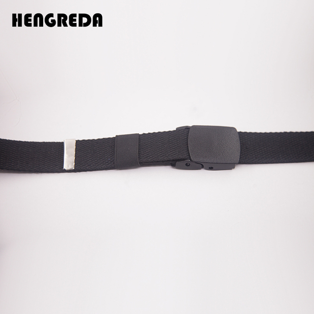 Canvas Waist Fashion Plastic Buckle Casual Cowboy Black Belts 5