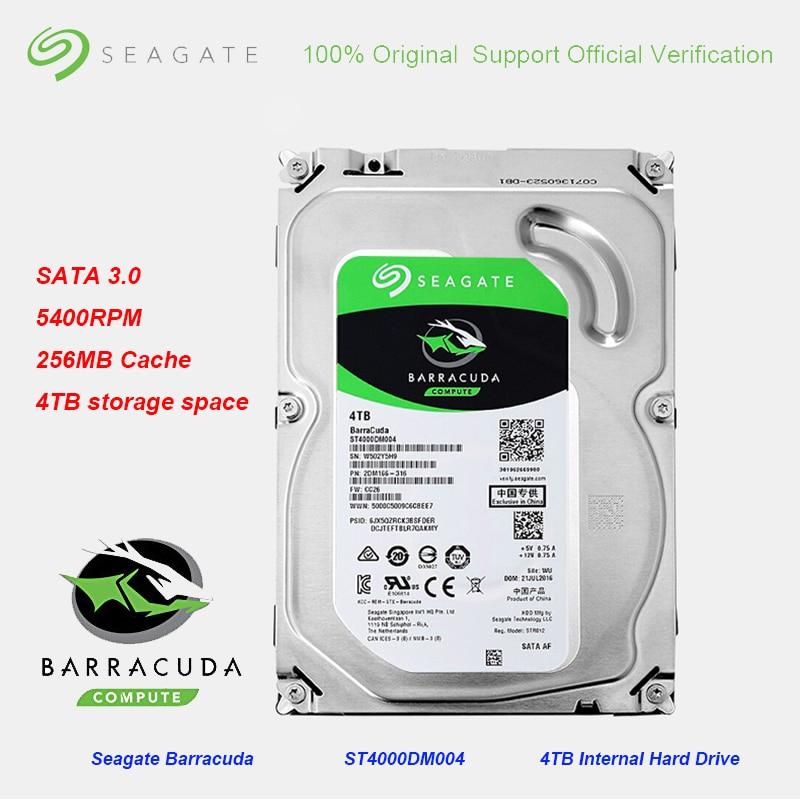 Original Seagate BarraCuda 4TB 3 5 Inch Internal 256MB Cache Gaming HDD5400RPM SATA 3 0 6Gb