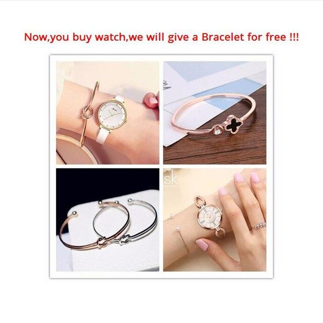 Shengke Fashion Women's Bracelet Watches Stainless Steel Waterproof Quartz Woman Watches 2018 Brand Luxury Clock montre femme
