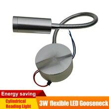 12 V LED Lesen Licht Aluminium Basis Flexible Schwanenhals Wand Lampe Schlafzimmer/Schreibtisch/Grafik/Buch Kühlen/ warm Weiß RV Neben Beleuchtung