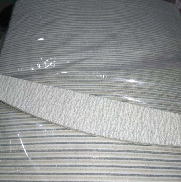 """(100 uds) limas de uñas acrílicas profesionales, grano 150/150, limas de Zebra, tabla nueva de 5"""""""