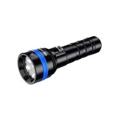 XTAR D06 1600 фонарик для дайвинга CREE XHP35 D4 Макс 1600 люмен Луч расстояние 430 метра магнитный переключатель torch 100 м глубина погружения