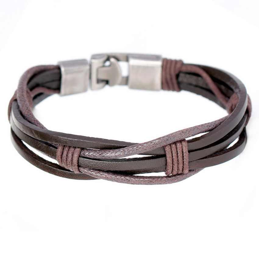 2017 New Fashion Novelty Diy Weave Leather Bracelets High Quality Sporty Bandage Friendship Men S Charm Bracelets Jewelry