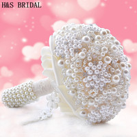 Gorgeous Wedding Flowers Luxurious Bridal Bouquets Pearls Crystal Artificial Wedding Bouquet Sparkle 2019 New buque de noiva