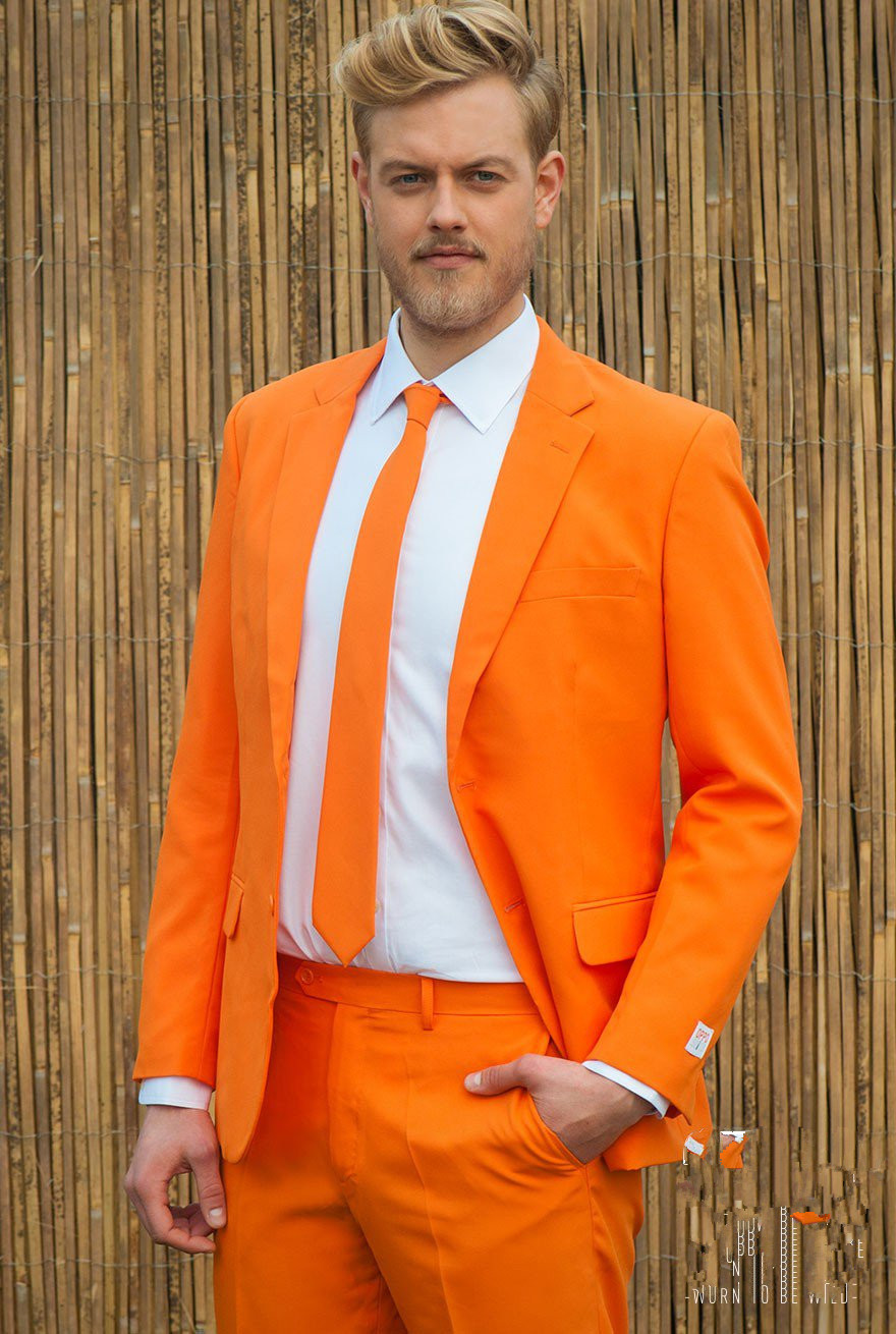Latest Coat Pant Designs Orange Men Suit Slim Fit 2 Piece Tuxedo Custom Fashion Party Prom Suits Terno Masculino Jacket+Pant X