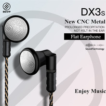 Bgvp 2018 Baru DX3S Upgrade 2.5 Mm/3.5 Mm CNC Logam Datar Earphone OCC Berlapis Perak MMCX Kabel hi Fi Audiophile(China)