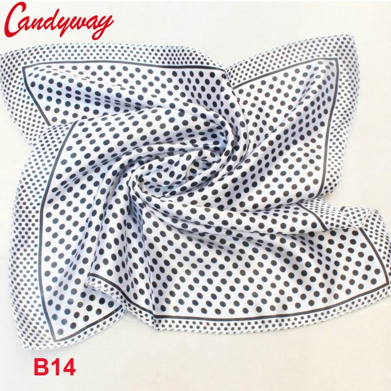 Baby Girl Boy Saliva Towel Fashion Star Brand Women High Quality Small Square Scarf Printed Silk Scarf 50*50cm B14