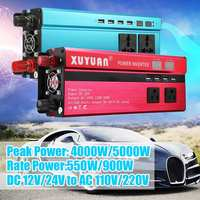 12V 220V 5000W KROAK Inverter Pe ak Car Power Inverter Voltage Transformer Converter 12V To 220V Solar Inversor Black Style