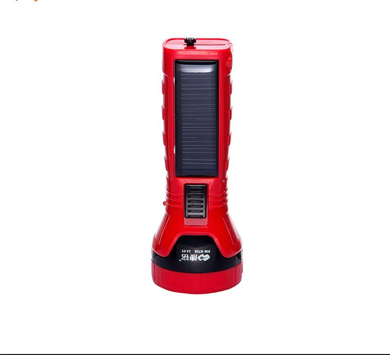 Free Shipping Bright Light Super LED Rechargeable Outdoor Multifunction Emergency Flashlight Lighting 12 Hours Solar Charge
