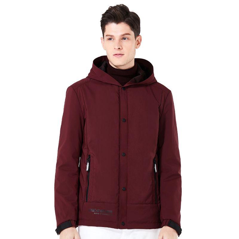 ICEbear 2018 new men's casual coat spring man warm cotton padded hooded overcoat windproof brand fashion jackets MWC18216D