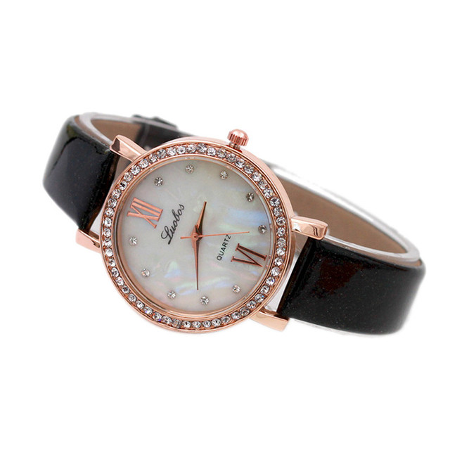 Mance Bling diamond bracelet watches Women luxury dress Fashion Leather Analog S