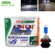 XENCN H11 12V 55W 5300K Blue Diamond Light Car Bulbs Replace Upgrade Hi/lo Beam Fog Halogen Lamp for BMW Audi 2pcs