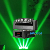 Chinese Wholesaler Stage Light 5x10W Led DMX512 Strobo Moving Head Beam Light Event Birthday Party Decorations Effect, 10Pcs/Lot