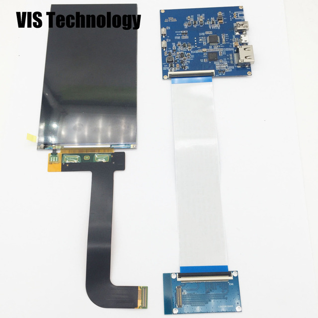 US $42 0 |5 5 inch 2560*1440 2K LCD Screen LS055R1SX03+ HDMI to MIPI driver  controller for 3d SLA printer NanoDLP Thingiverse TOS-in 3D Printer Parts