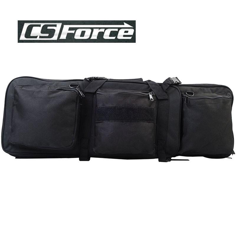 Prix pour CS Force 85 CM Nylon Double Fusil Sac avec Bandoulière pour M4 Fusil de Chasse Gun Case Sacs Militaire Gun Épaule Poche Noir