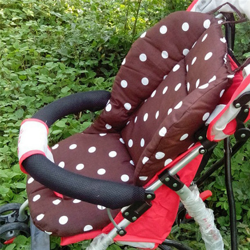 Elegant 1Pc Cartoon Wave Point Cotton Soft Baby Infant Stroller Seat Pushchair  Cushion Floor Mat Breathable Baby