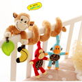 4 type Sozzy Plush Baby Toy Crib Car Bed Stroller Spiral Hanging Decoration Toy Ring Bell Baby Rattle Educational Toys #E