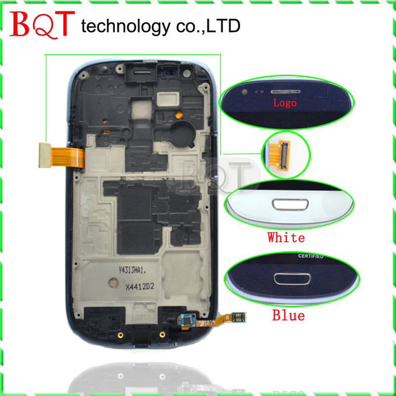 BQT Store S3 mini LCD Frame For Samsung Galaxy S3 mini i8190 LCD Display With Touch Screen Digitizer Assembly