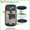 Bqt loja s3 mini moldura do lcd para samsung galaxy s3 mini i8190 lcd com tela de toque digitador assembléia