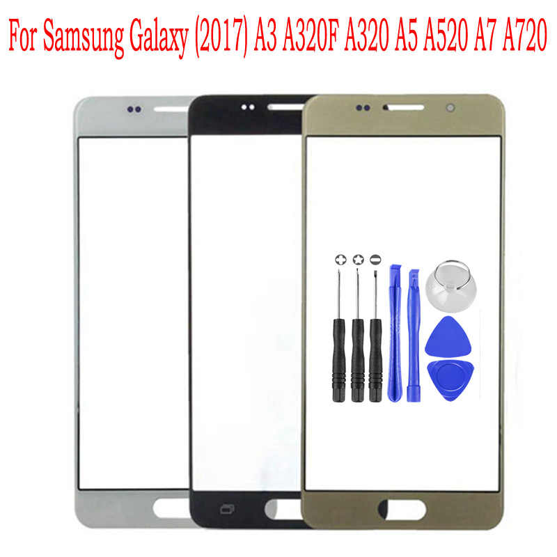 Для samsung Galaxy A3 A5 A7 2017 сенсорный экран ЖК-дисплей передняя внешняя стеклянная панель объектива Замена крышки для ремонта A320 A520 A720