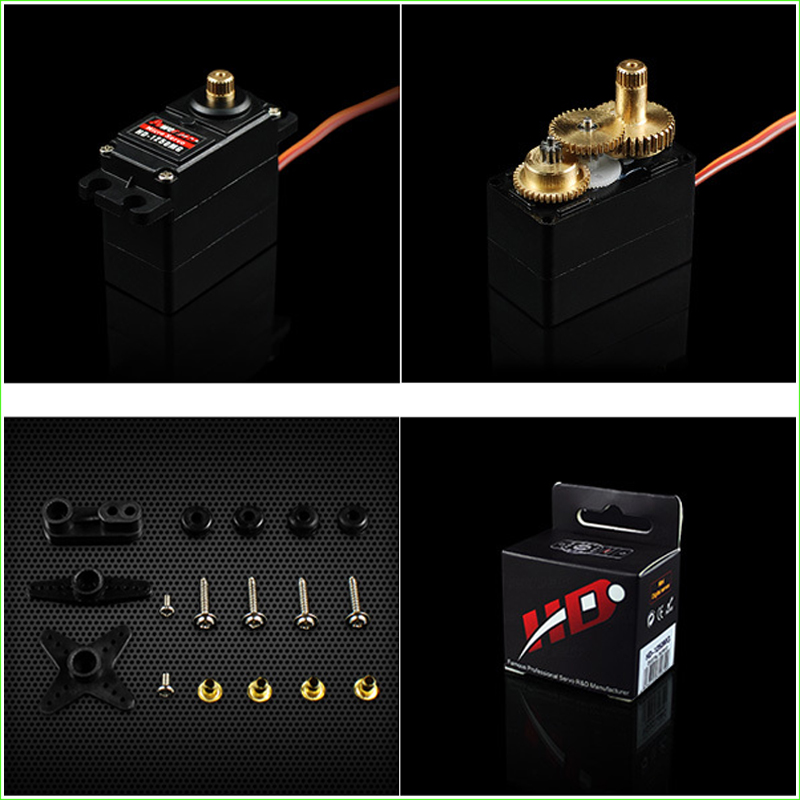 Power HD-1250MG Micro Analog Servo 3.5KG 25g with Metal Gear for RC Fixed Wing Airplane & Car Boat