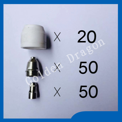P80 Panasonic Air Plasma Cutter Torch Consumables Nozzles 60 80 100Amp 1 2mm Plasma Electrodes 120PK