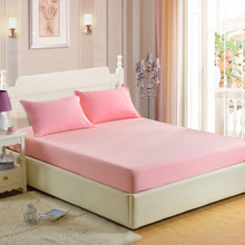 Fitted sheet Pure color Skin friendly cotton multi size optional Bed Sheet Mattress Covers Quality assurance Bedspread(China)