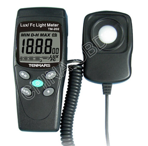 NEW TM-202 Digital LED Light Meter Luminometer Lux Meter Reading 2000 new professional lx1010bs digital light meter 100000 handheld lux meter