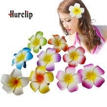 200  New fashion mixed color Fabulous Hawaii Plumeria flowers Foam Frangipani Flower hair clip bridal 8CM