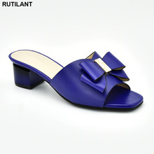 חדש אופנה קיץ נעלי גדול גודל אפריקאי חתונה משאבות מעוטר ריינסטון להחליק על נעלי לנשים ניגרי מפלגה נעליים