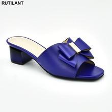 Thời Trang Mới Mùa Hè Giày Size Lớn Châu Phi Tặng BƠM BỂ Trang Trí Kim Cương Giả Trượt Giày Cho Nữ Nigeria Đảng Giày