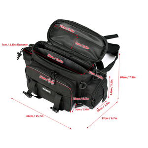 Image 2 - Fishing Bag for Fishing Case Outdoor Sports Waist Pack Fishing Lures Gear Storage Bag Backpack Single Shoulder Cross Body Bags