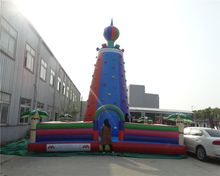 Outdoor sports games  children inflatable climbing wall for the Park недорого