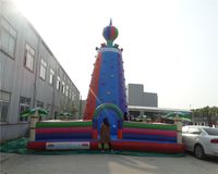 Outdoor inflatable climbing wall in climbing walls with commercial inflatable bouncer for the Park