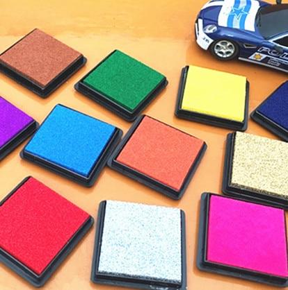15colors 1pc 4x4cm Square Inkpad Craft Oil Based Diy Ink Pads For Rubber Stamps Scrapbook Decor Fingerprint Kids Art Supply