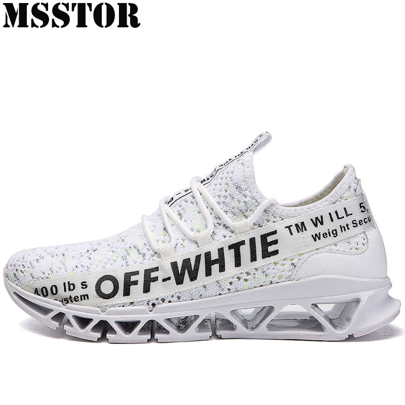 MSSTOR 2018 Men's Running Shoes Man Brand Summer Breathable Mesh Mens Sneakers Outdoor Athletic Sports Run Sport Shoes For Men