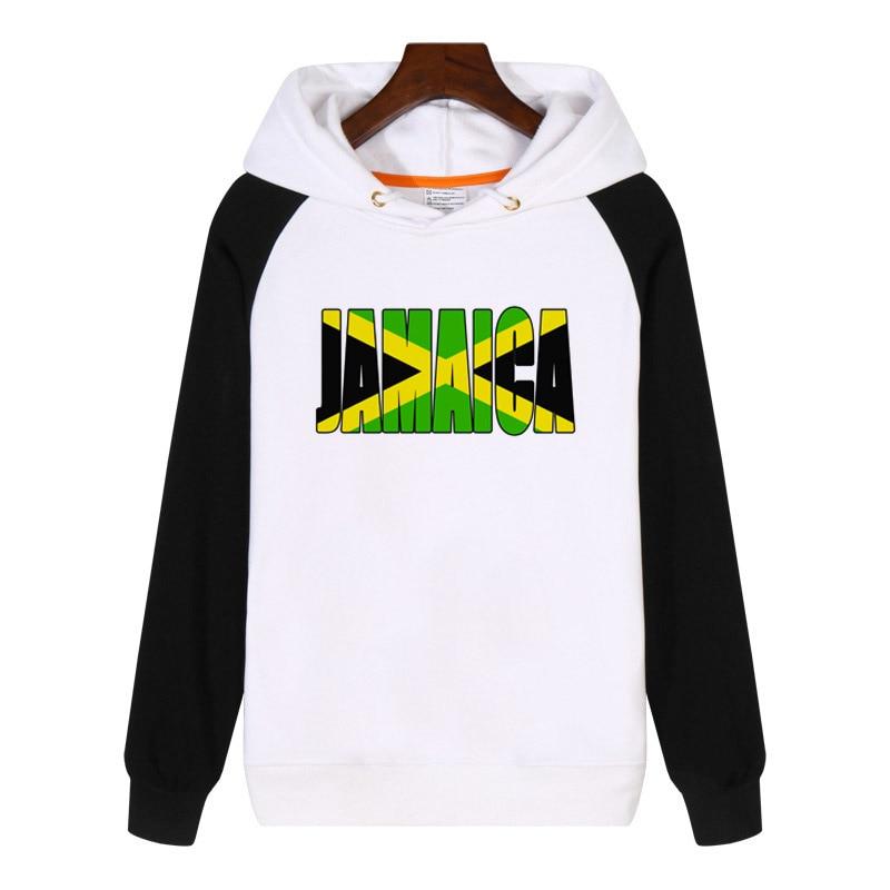 Jamaica Text Flag Caribbean Hoodies fashion men women Sweatshirt winter Streetwear Hoodie Tracksuit Sportswear GA884