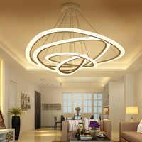 Neue Moderne anhänger lichter für wohnzimmer esszimmer 4/3/2/1 Kreis Ringe acryl LED beleuchtung decke Lampe leuchten