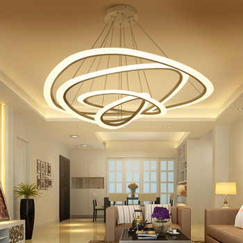 New Modern pendant lights for living room dining room 4/3/2/1 Circle Rings acrylic   LED Lighting ceiling Lamp fixtures - DISCOUNT ITEM  44% OFF All Category