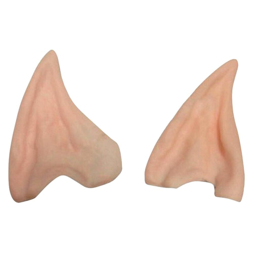 1 Pair of Latex Fairy Pixie Elf Ears Cosplay Accessories LARP Halloween Party Latex Soft Pointed Prosthetic Tips Ear