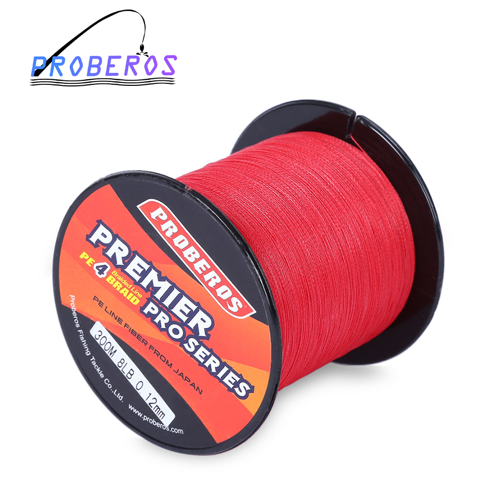 Pro beros 300m pe multifilament braided fishing line super for Strong fishing line