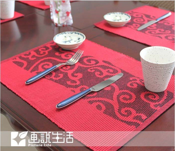 fashion fabric dining table matCloud Placemats Insulation Plate