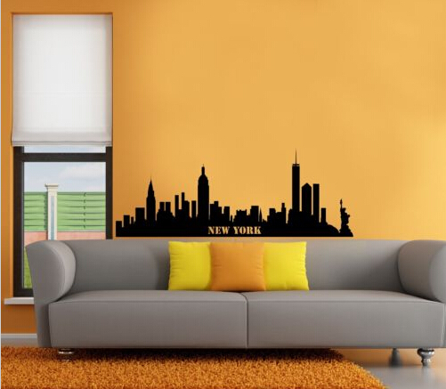 Free shipping New York City Skyline Wall Art Sticker Decal DIY Home ...
