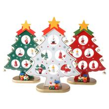 Creative DIY Wooden Christmas Tree Decoration Gift Ornament Xmas Table Desk Gifts For