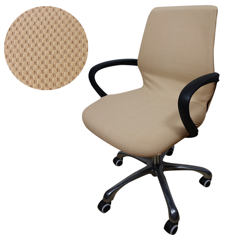 desk chair cover armless dining room covers cut rate jacquard checked computer office side zipper arm seat slipcover stretch rotating lift